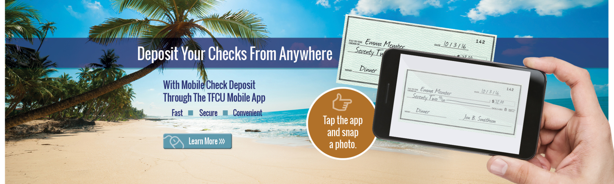 Deposit Your Checks from Anywhere